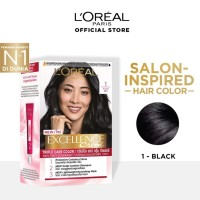LOREAL Excellence Creme Cat Rambut - 1 Black