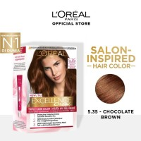LOREAL Excellence Creme Cat Rambut - 5.35 Chocolate Brown