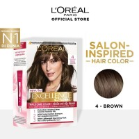 LOREAL Excellence Creme Cat Rambut - 4 Brown