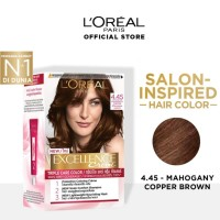 LOREAL Excellence Creme Cat Rambut - 4.45 Mahogany Cooper Brown