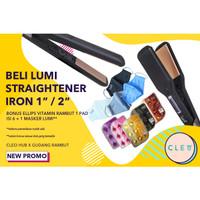 Catokan Lumi Hair Styler Catok Straightening Irons 1 inch