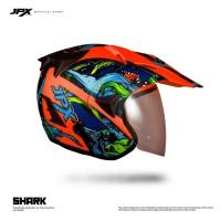 Jpx Supermoto Shark - Fluorescent Red Doff sz.L