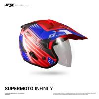 Jpx Supermoto Infinity Soldier - Fluorescent Red Doff sz.XL
