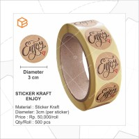 Stiker Kraft Enjoy | Sticker Label Seal Dekor STK-ENJOY