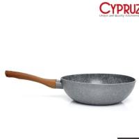 Fry Pan Wok Marble Induksi Cyprus 20cm Wajan Wok Cypruz FP-0640