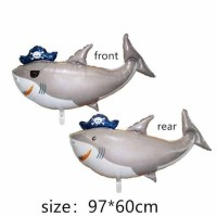 Balon Foil Pirate Shark Double Side Jumbo Size 97 cm