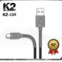 KABEL DATA SPRING K2-C09 K2 PREMIUM QUALITY TYPE C FAST CHARGING 2.4A