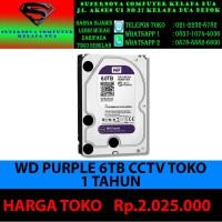 WD PURPLE 6TB CCTV TOKO 1 TAHUN