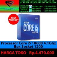 Processor core i5 10600K 4.1 GHz BOX socket 1200 NEW ITEM !!! Product
