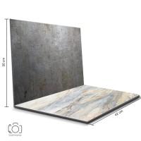 Alas Foto Lipat Steel & Marmer Warna / Backgorund Foto Lipat (STL-11)