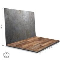 Alas Foto Lipat Steel & Kayu / Backdrop Foto Produk (STL-10)