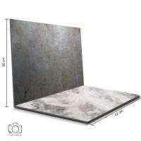 Alas Foto Lipat Steel & Marmer / Background Foto Produk (STL-17)