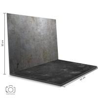 Alas Foto Lipat Steel & semen Hitam / Background Foto Lipat (STL-14)