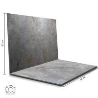 Alas Foto Lipat Steel & Semen Abu / Background Foto Produk (STL-18)