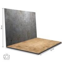 Alas Foto Lipat Steel & Rotan / Background Foto Produk ( STL-21)
