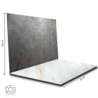 Alas Foto Lipat Steel & Marmer Granit / Background Foto (STL-12)
