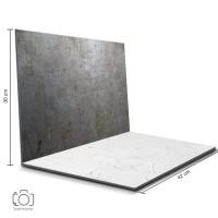 Alas Foto Lipat Steel & Semen Putih / Background Foto Produk (STL-13)