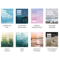 Sky Poetry Waterproof Label Sticky Notes / Catatan Tempel / Sticky