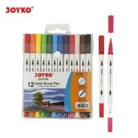 Color Brush Pen/Pena Kuas Warna Joyko CLP-06 - Set 12 Warna
