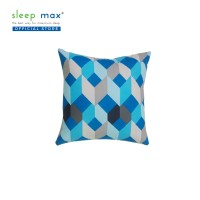Sleep Max Cushion/Bantal Sofa Katun (Termasuk Isi) 45x45 Cm-Geo Blue