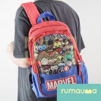 RUMAUMA Marvel Superhero Bag Backpack Tas Ransel Anak Laki Spiderman