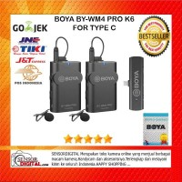 BOYA BY-WM4 PRO-K6 Digital Wireless Omni Lavalier Microphone F type C