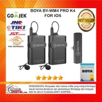 BOYA BY-WM4 PRO-K4 Digital Wireless Omni Lavalier Microphone For IOS