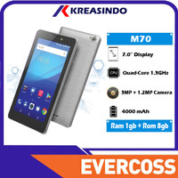 Evercoss M70 1/8 Ram 1gb Rom 8gb Tablet 7 inch 4G Garansi Resmi