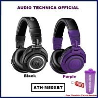 Audio Technica ATH-M50XBT Wireless Over Ear Headphone ATH M50X BT - Ungu