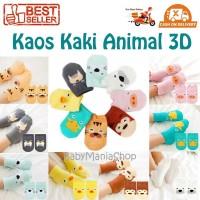 Kaos Kaki Bayi Animal 3D Karakter Baby Socks Cute Import Babymaniashop