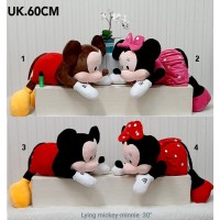 couple bantal guling big 60cm import boneka mickey minnie mouse mobil