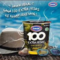 MIE CUP GAGA 100 EXTRA PEDAS KUAH JALAPENO 75GR - MIE INSTANT
