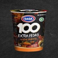 MIE CUP GAGA 100 EXTRA PEDAS GORENG JALAPENO 75GR - MIE INSTANT