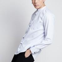 kemeja koko baju Kurta Gamis Pria Polos lengan Panjang putih
