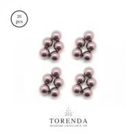 Torenda Mutiara (Pearl) Ungu (Mauve) ukuran 4 MM / PCS