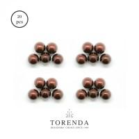 Torenda Mutiara (Pearl) Coklat Tembaga (Copper) ukuran 4 MM / PCS