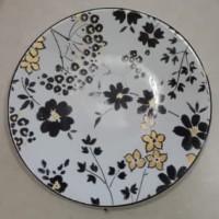 Piring kue bunga hitam kuning | piring hias | Salad Plate|Ekspor Murah