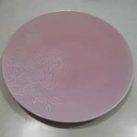 Piring Saji Bunga Pink|Piring Hias| Salad Plate|Ekspor Murah