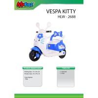 Mainan anak motor aki vespa / ride on hello kitty scoopy HLW-2688