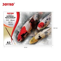 Watercolor Pad Buku Cat Air Akrilik Joyko Pad-2001 A3 300 gsm 12Sheets