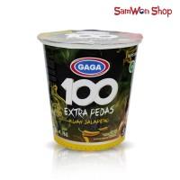 MIE CUP GAGA 100 EXTRA PEDAS KUAH JALAPENO 75 GRAM / MIE INSTANT CUP