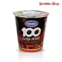MIE CUP GAGA 100 EXTRA PEDAS GORENG JALAPENO 75 GRAM / MIE INSTANT CUP