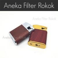 Korek Api Reguler Motif Kayu / Wood Simple Elegant Lighter
