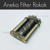 Korek Api Reguler Elegan ZORRO Dragon Pillars Regular Flame Lighter