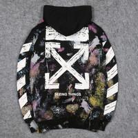 Sweater Cewek | Jaket Wanita | Sweater Hoodie Off White Galaxy Import