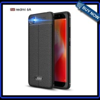 Case Xiaomi Redmi 6A Pro Leather Auto Focus - Hitam