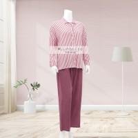 Lunaci Vertical Red Stipes Gya Pyjamas