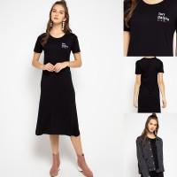 LTC44 xd tori daijiro hitam dress midi