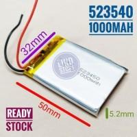 523450 Li ion 3.7v 1000mAh Protection Baterai Charge Mp3 Mp4 GPS Hp