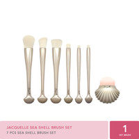 Jacquelle Beauty Brush Collection - Sea Shell with acrylic case
